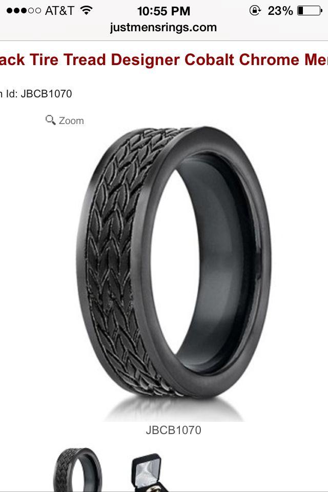 Car Weddings Gorgeous Tire Tread Mens Wedding Band