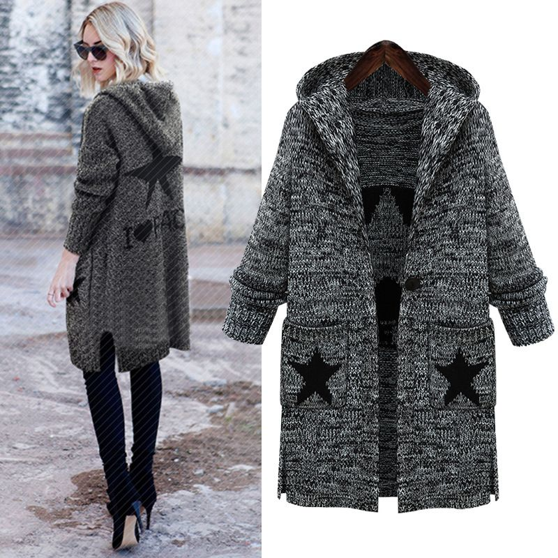 L-5XL Plus Size Sweater 2017 New Autumn Winter Elegant Cardigans ...