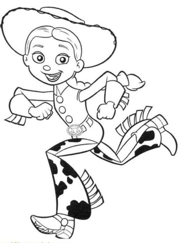 Disney Jessie Coloring Pages