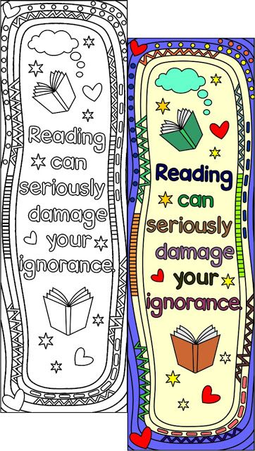 Printable Coloring Bookmark Templates With Four Designs, Plus The
