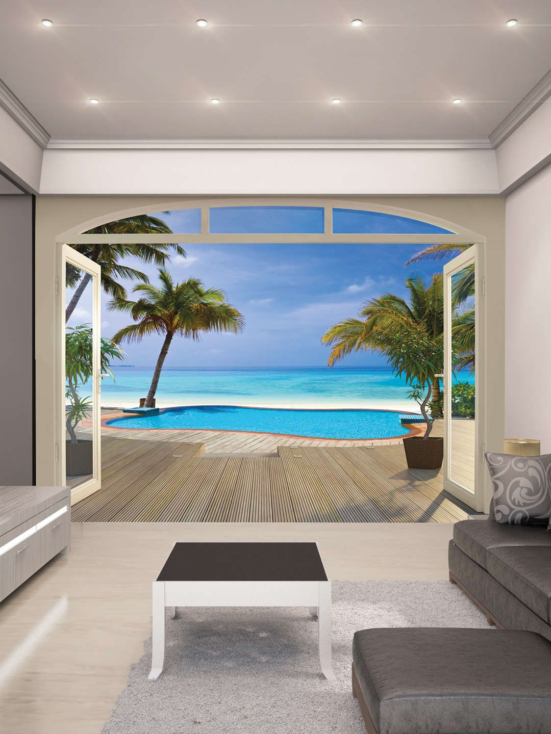 Paradise Beach Wall Mural Home and garden in 2019