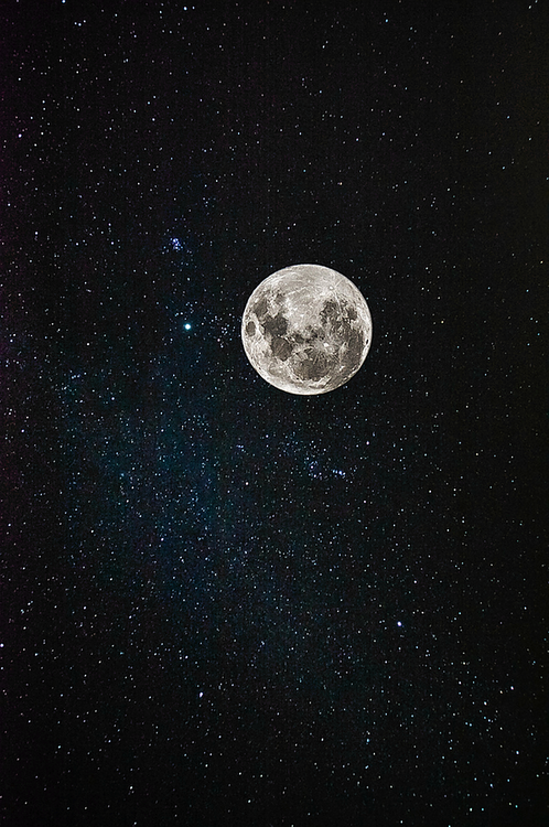 Attractive Moon, Stars, And Night Image
