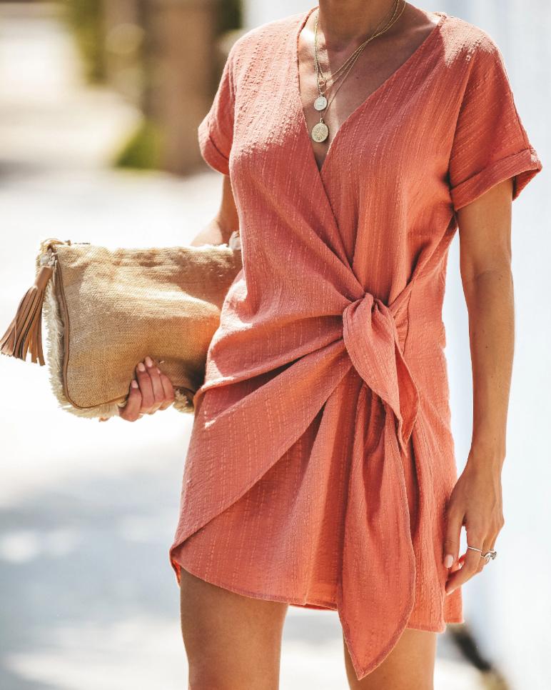 Photo of Lifetime of Love Wrap Mini Dress – 6 Colors