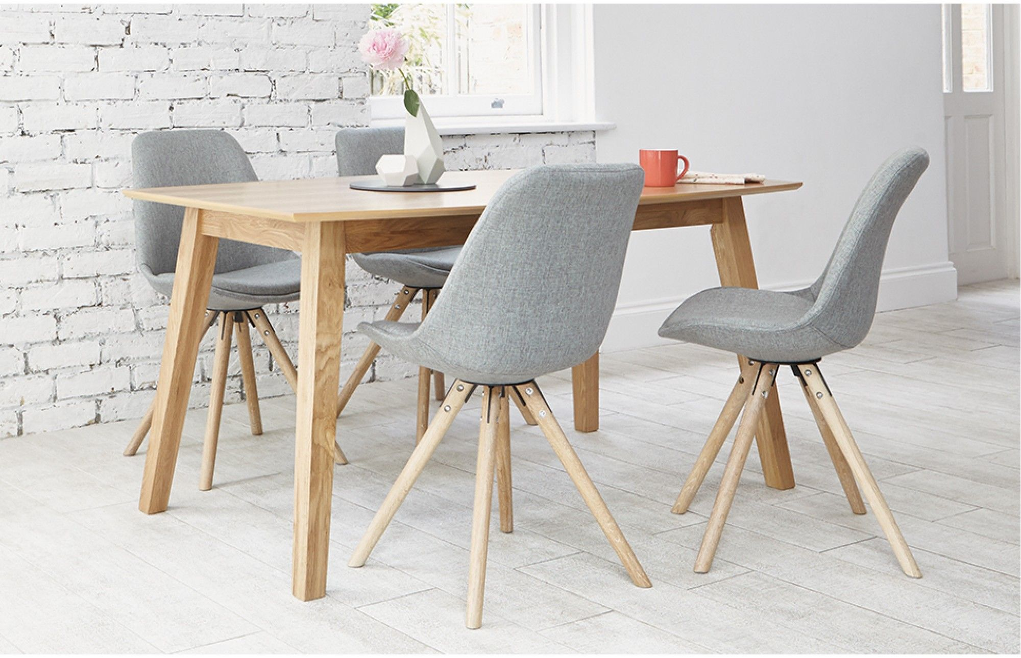 Upgrade Your Living Space With This Designer 4 Seater Dining Set With Upholstered Grey Minimalist Dining Room Minimalist Dining Room Small Dining Table Setting