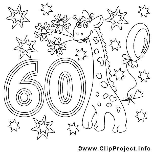 Ausmalbild Zum 60 Geburtstag Geburtstagsideen Malvorlagen Für
