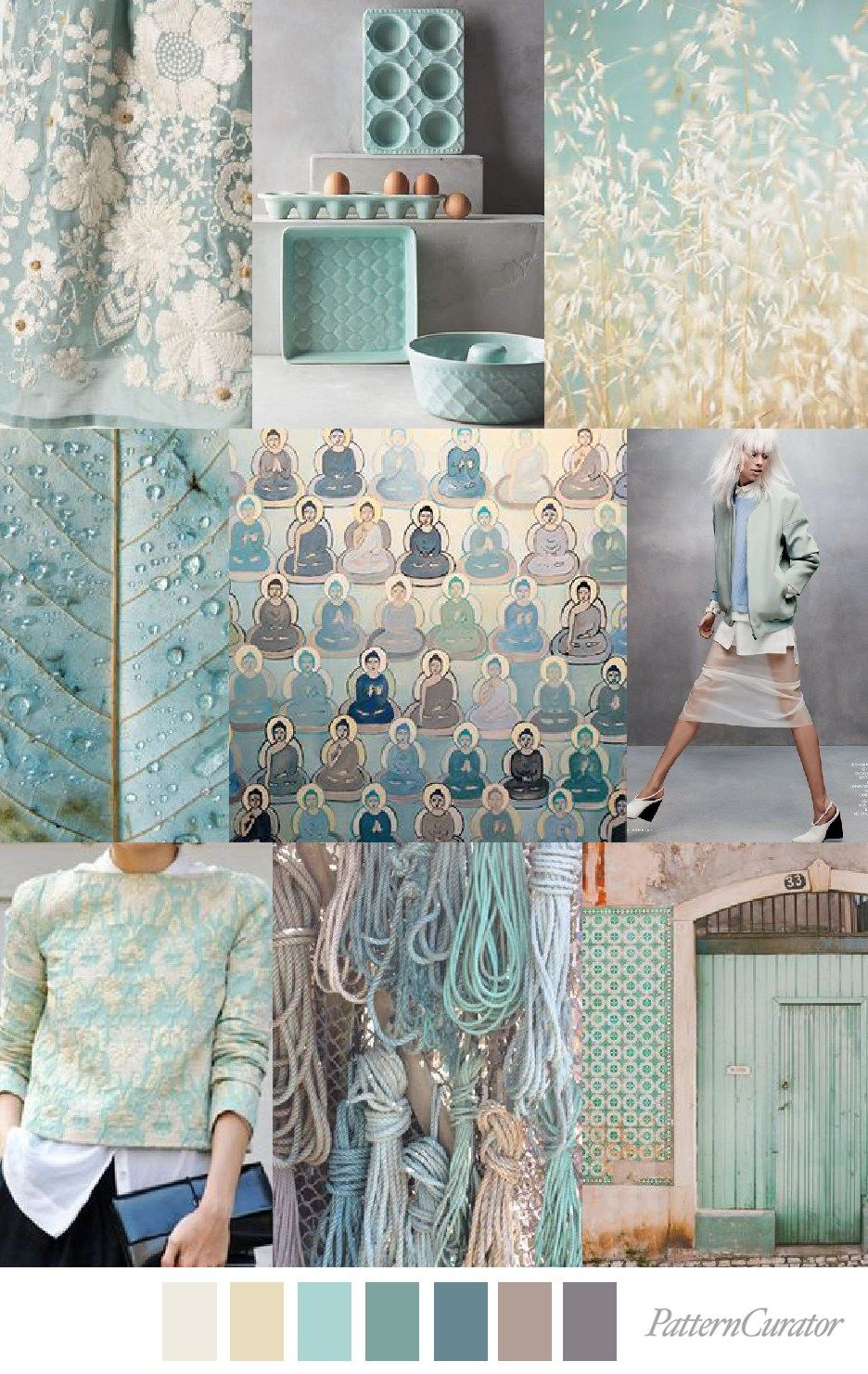 Home Decor Trend Forecast For 2018: TRANQUIL TEAL (pattern Curator)