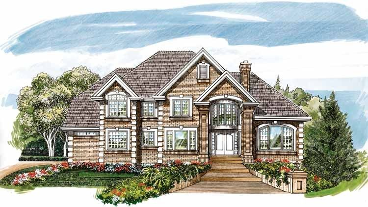 Eplans New American House Plan - Regal Splendor - 4219 Square Feet and 4 Bedrooms from Eplans - House Plan Code HWEPL07737