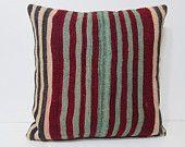 kilim pillow 24x24 large accent pillow large floor pillow euro pillow sham large rug pillow case boho pillow case turkish pillow case 24851