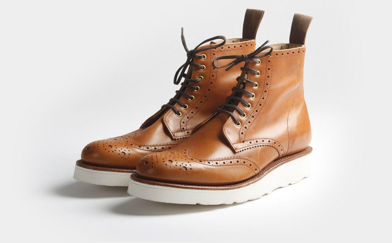 Tan brogue boots | Botas masculinas, Acessórios masculinos