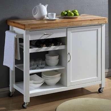 Spreading Out 14 Ways To Get More Counter Space White Modern Kitchen White Kitchen Cart Studio Kitchen