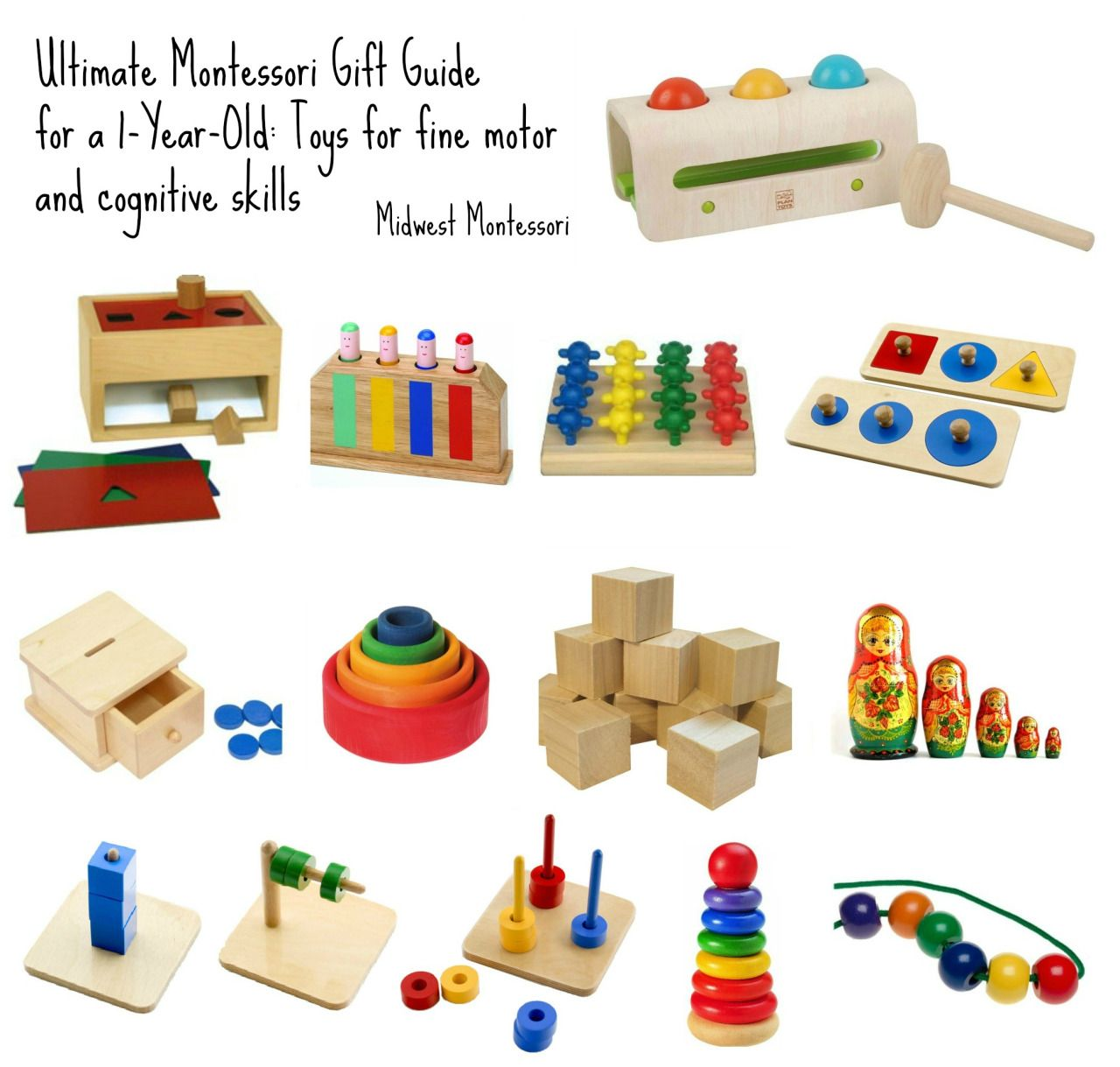 Ultimate Montessori Gift Guide For A One Year Old Toys