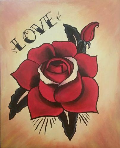 Old School Rose Crafty Things Tattoos Rose Tattoos Old School Rose