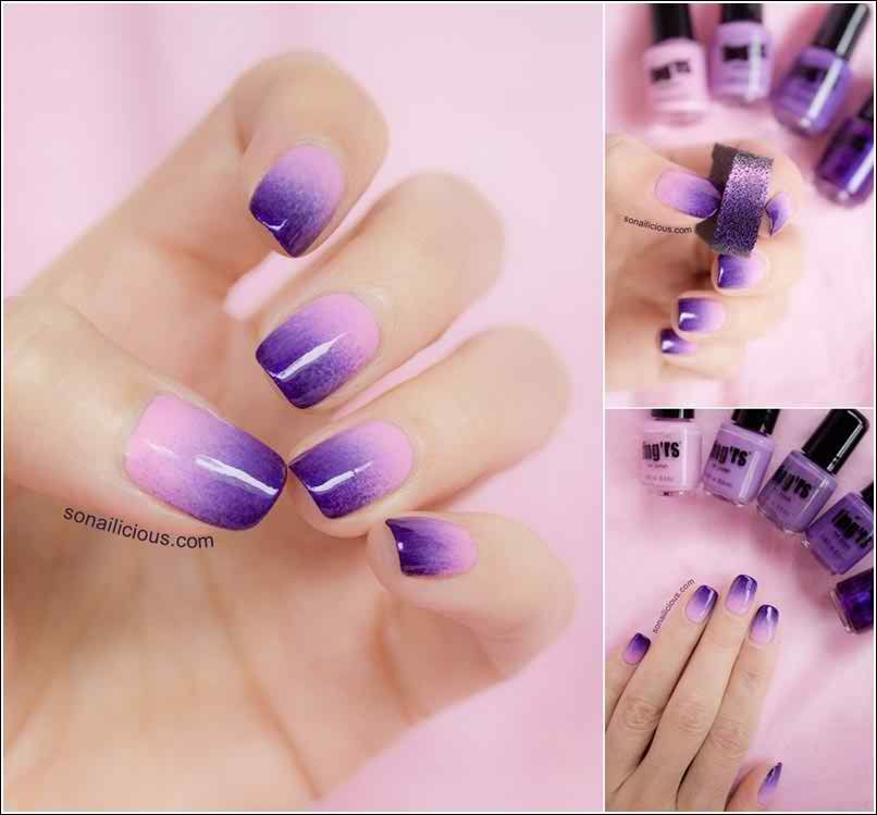 Two Tone Nail Polish Designs Ideas Pictures0014 - Two Tone Nail Polish Designs Ideas Pictures0014 Nail Design In