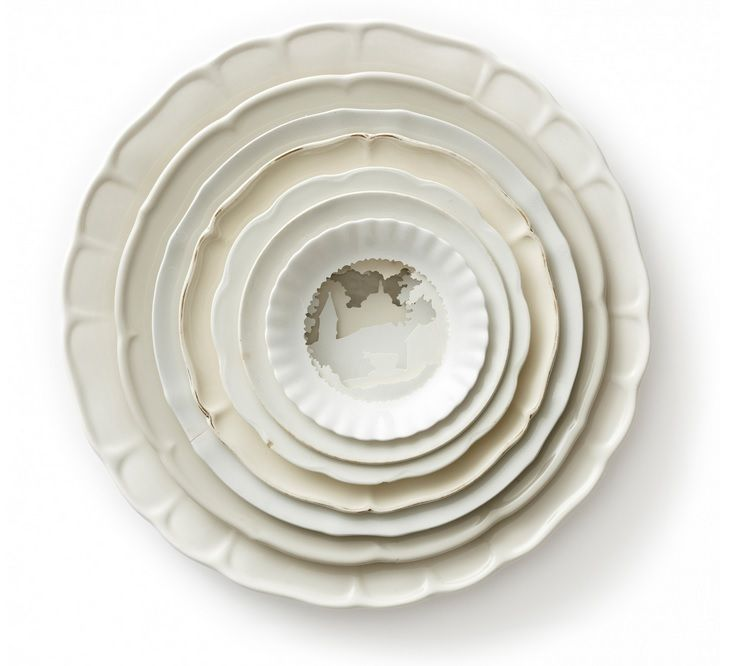 Layered Ceramic Plates by Caroline Slotte Create 3D Landscapes | 3d ...