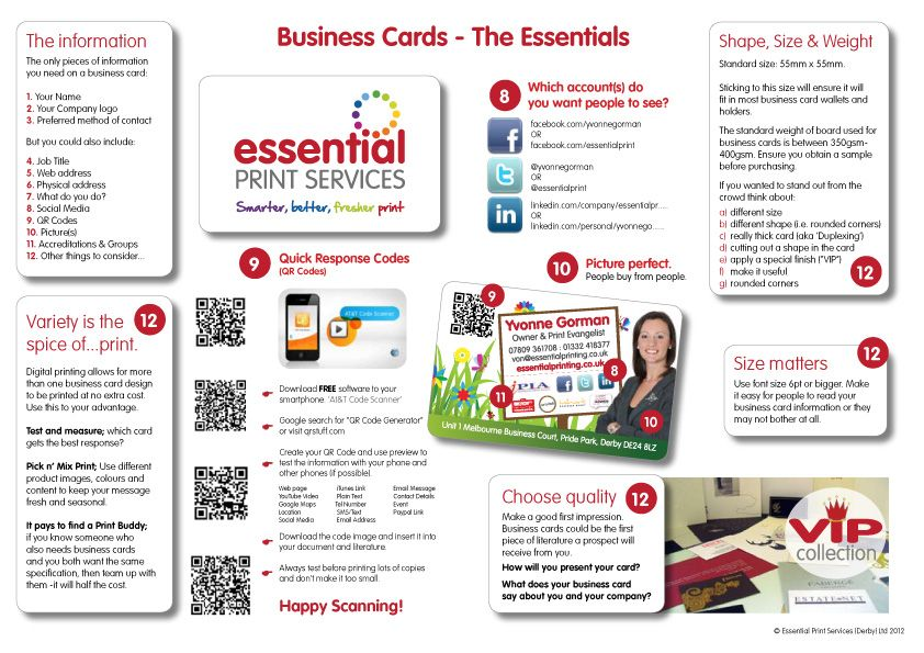 Business cards the essentials business card pinterest a comprehensive guide to business cards what to include how to make a successful business card and an insight how to use qr codes on business cards colourmoves