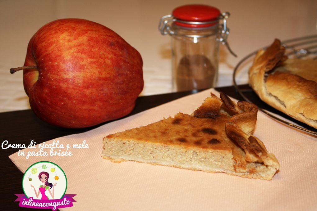 Crema di ricotta e mele in pasta brisée