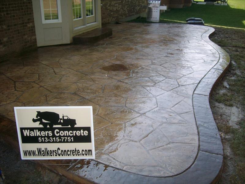 Stamped Concrete Patio | Concrete LLC   Concrete Projects CincinnatiStamped Concrete  Patios ... Colored ...