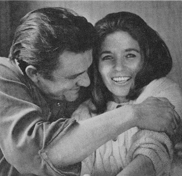Johnny Cash and June Carter.. love this picture.