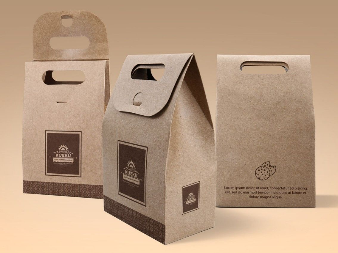 Download Cake And Cookie Packaging Mockup Psd 1 Bag Mockup Paper Bag Free Packaging Mockup