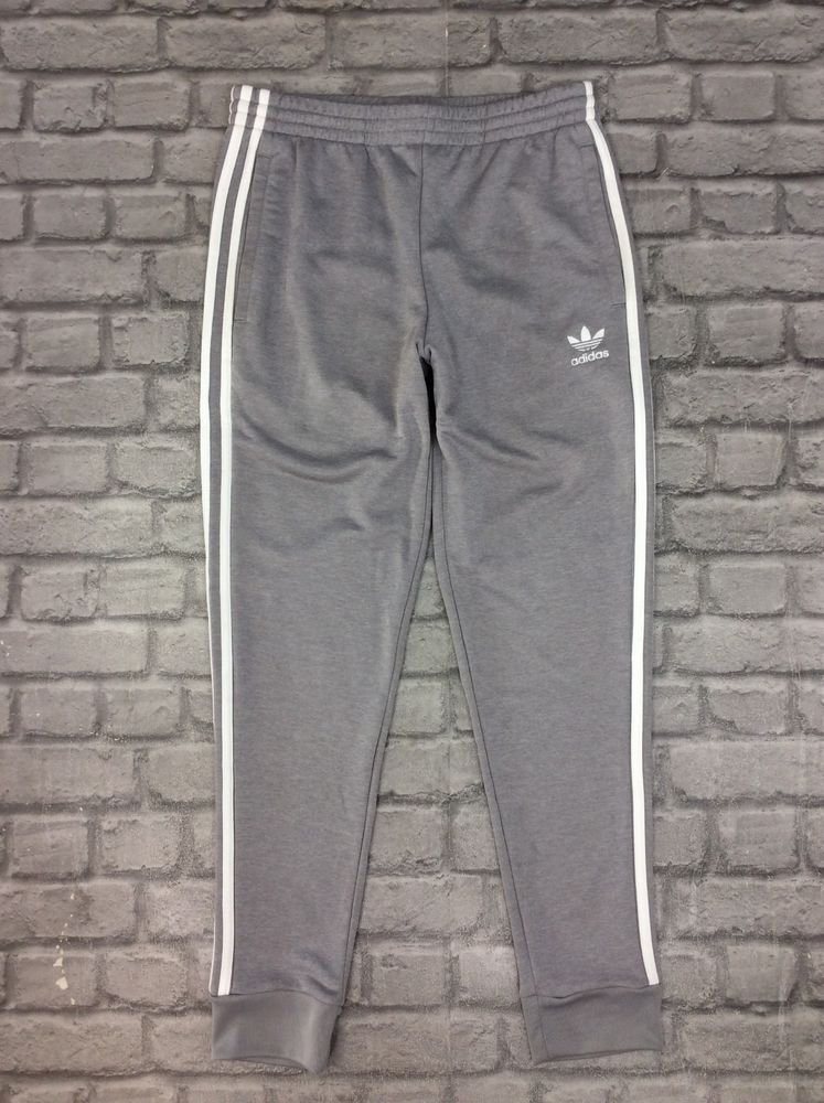 superior quality a1502 4c2e9 ADIDAS MENS UK M SUPERSTAR POLY TRACK PANTS GREY THREE STRIPE JOGGERS GYM   fashion  clothing  shoes  accessories  mensclothing  activewear (ebay link)