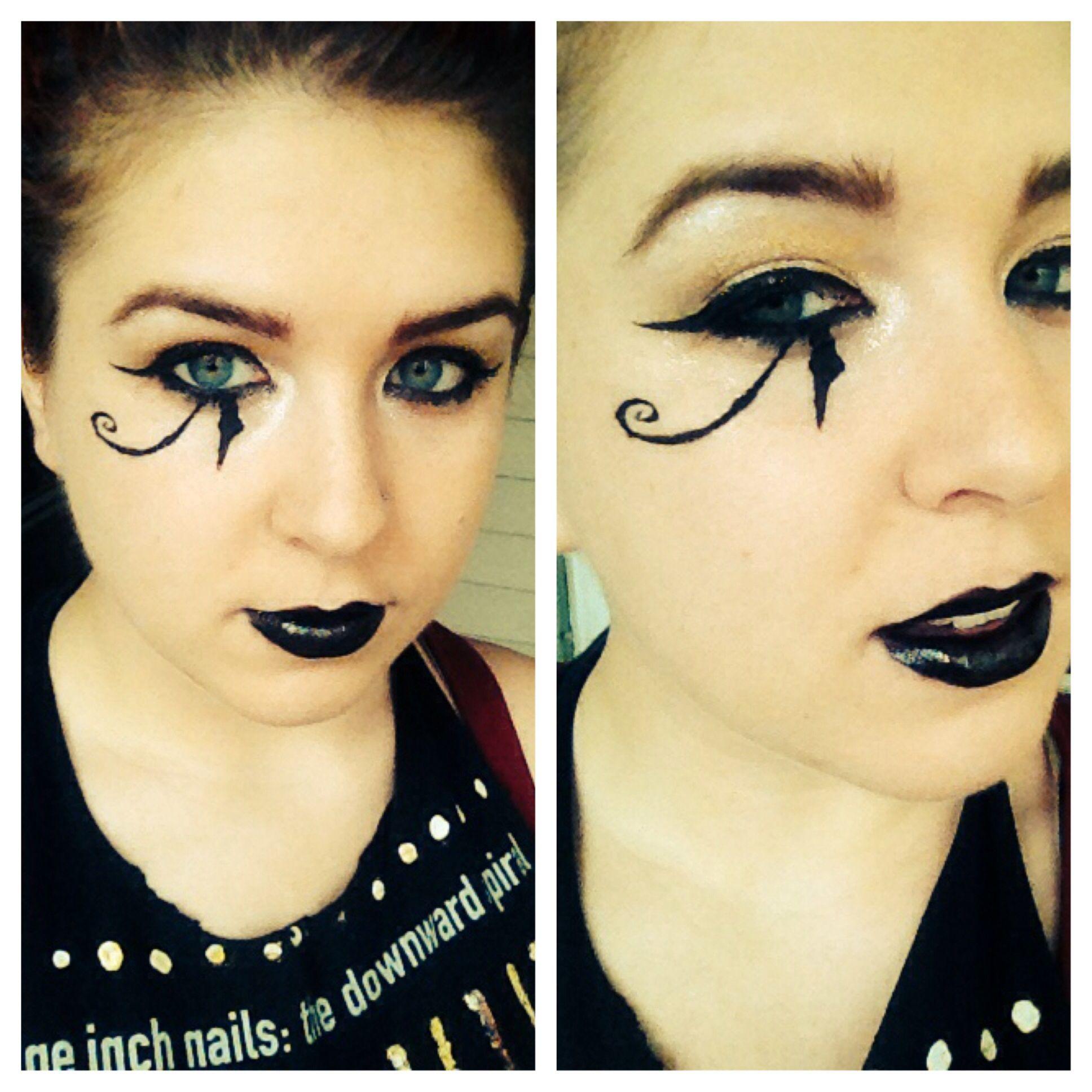 Eye of Horus makeup//Darcy Vendetta The eye Pinterest