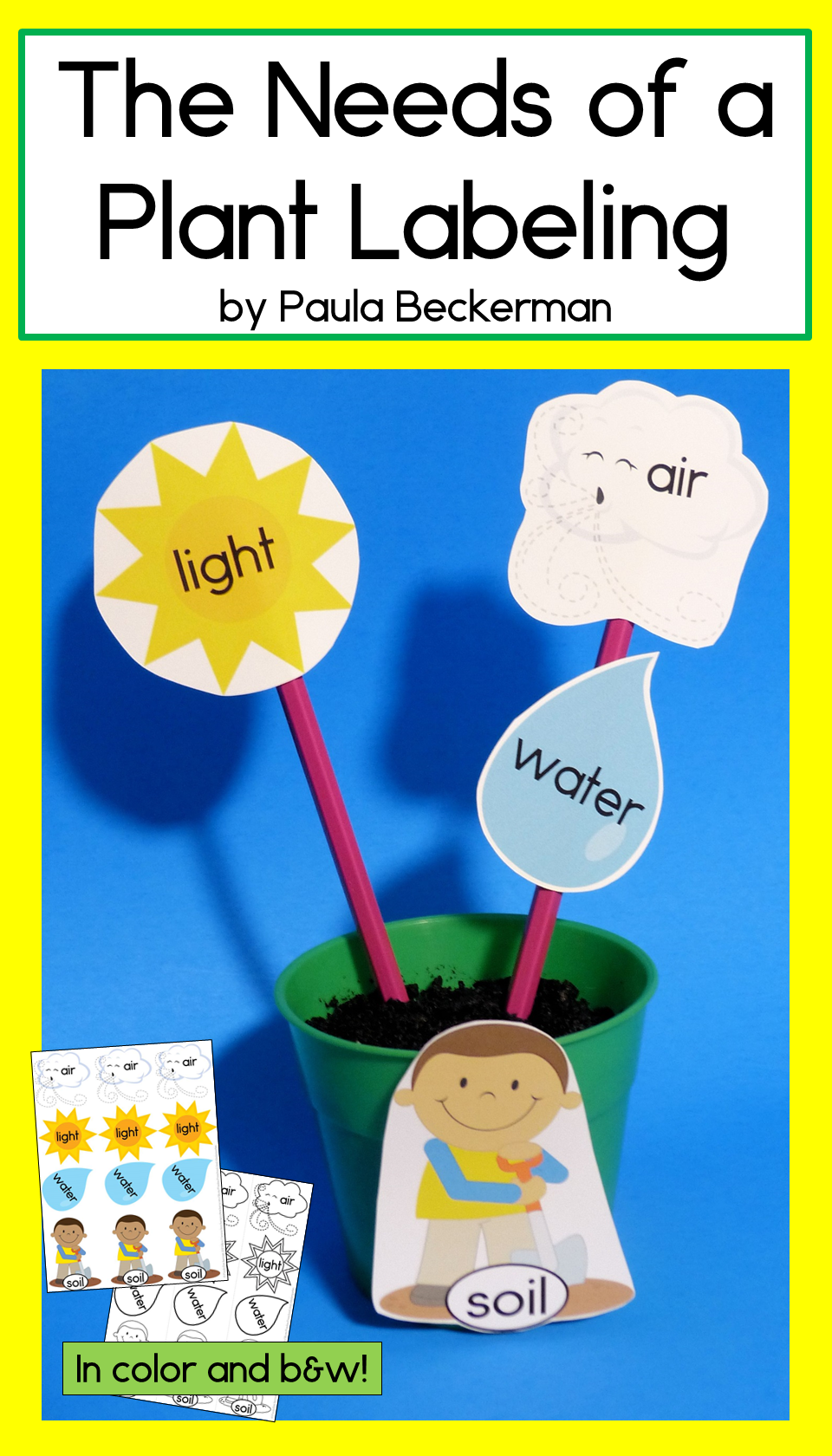 The Needs Of A Plant Labeling Activity No Prep Perfect For Spring Time Learning Tpt Labeling Activities Plants Kindergarten Activities [ 1680 x 960 Pixel ]