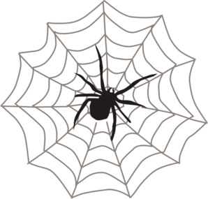 Spider web hanging. Clipart panda free images
