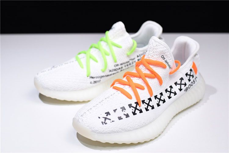 e708c07bc OFF White x Adidas Yeezy 350 V2 Boost The Ten men and women running shoes  white