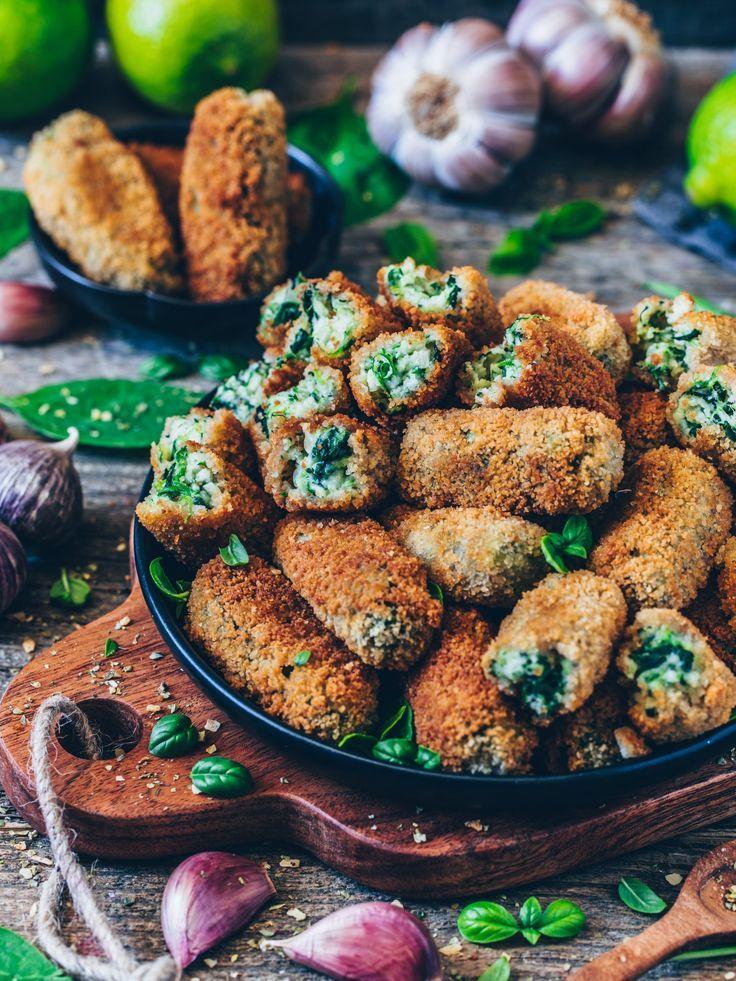 Vegane Kroketten mit Spinat (glutenfrei)   - Gerichte -