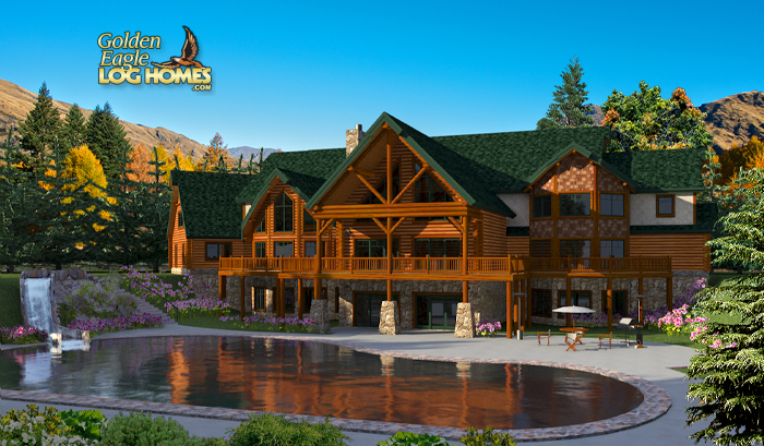Log Homes And Log Home Floor Plans Cabins By Golden Eagle Log Homes Luxury House Plans Mansions Mansions Homes