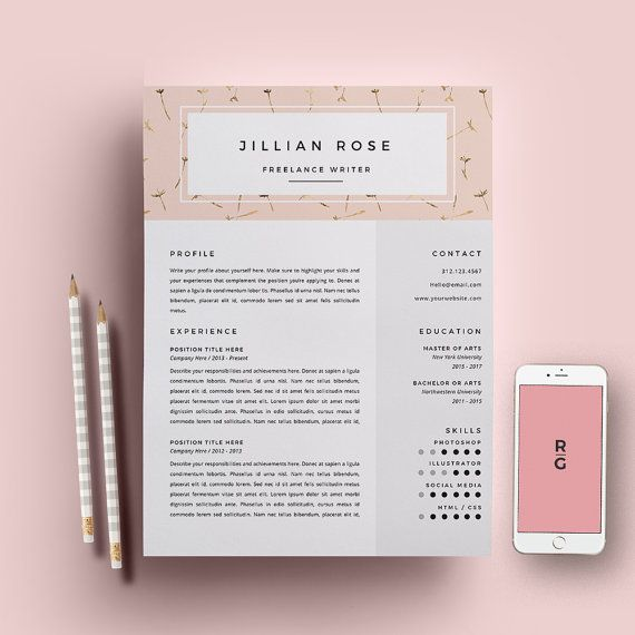Resume Template 3 Page Pack Cv Template Cover Letter For Ms Word
