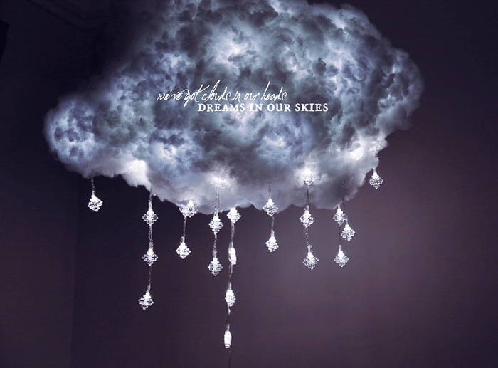 Diy Floating Cloud Light Will Illuminate Your Room With A Thunderstorm Diy Clouds Diy Cloud Light Cloud Lights