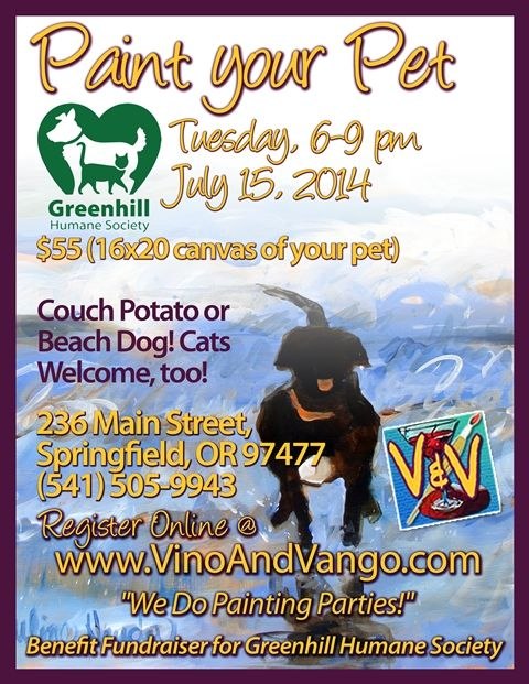 Greenhill Humane Society Paint Your Pet Fundraiser Dog Rescue Fundraising Animal Rescue Fundraising Animal Fundraising