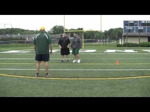 Devlin Football Camp Offensive Line Drills Pull Technique