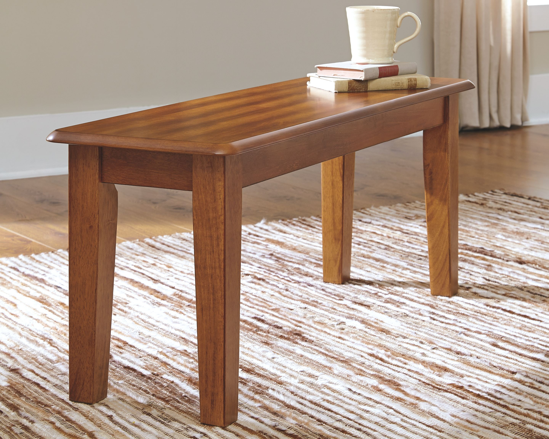 Berringer dining room bench rustic brown