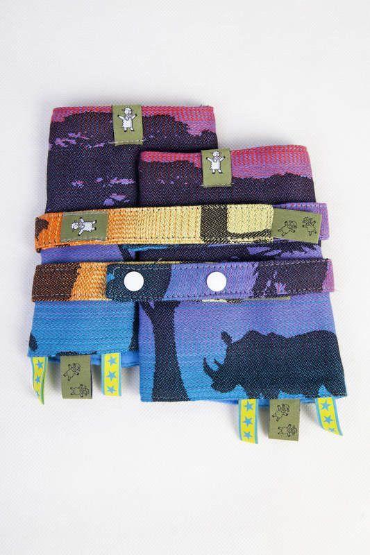 Lenny Lamb Drool Pads and Reach Straps Set Rainbow Safari 2.0