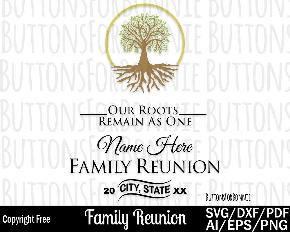 Family Reunion Svg Family Shirt Design Reunion Shirt Design Tree
