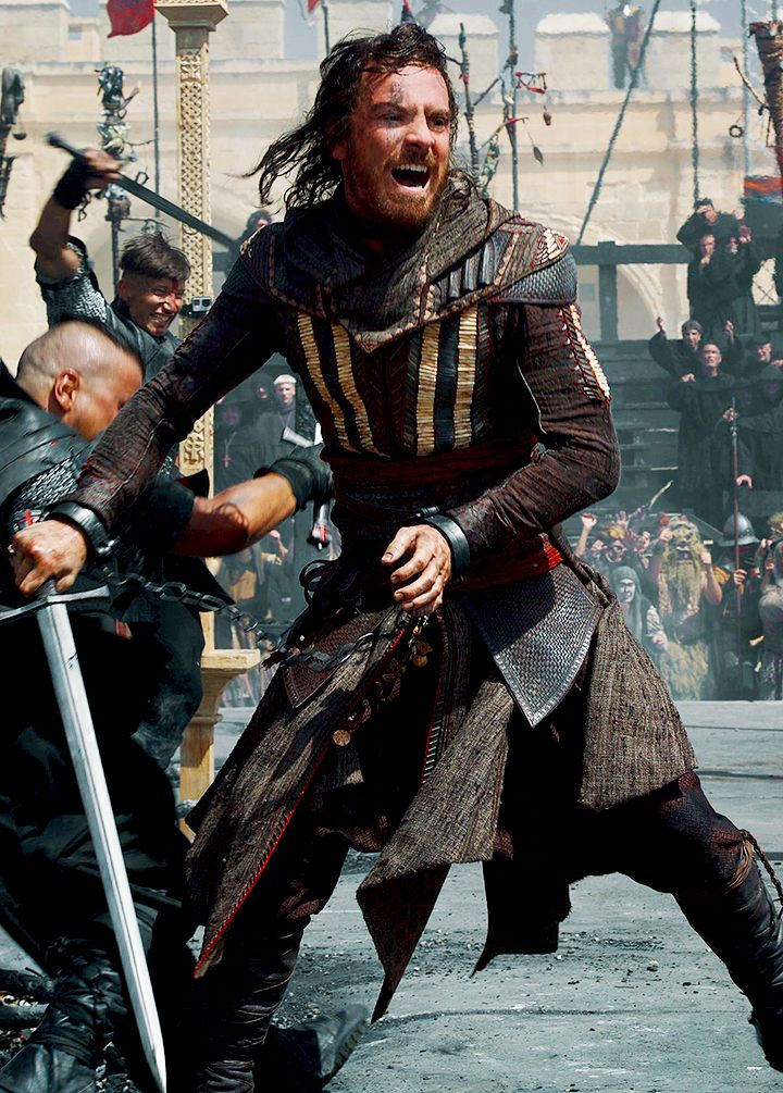 Michael Fassbender in the upcoming movie Assassin's Creed ...