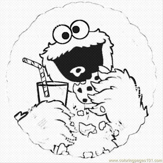 cookie monster coloring pages printable coloring page cookie monste2lrg cartoons - Cookie Monster Coloring Pages