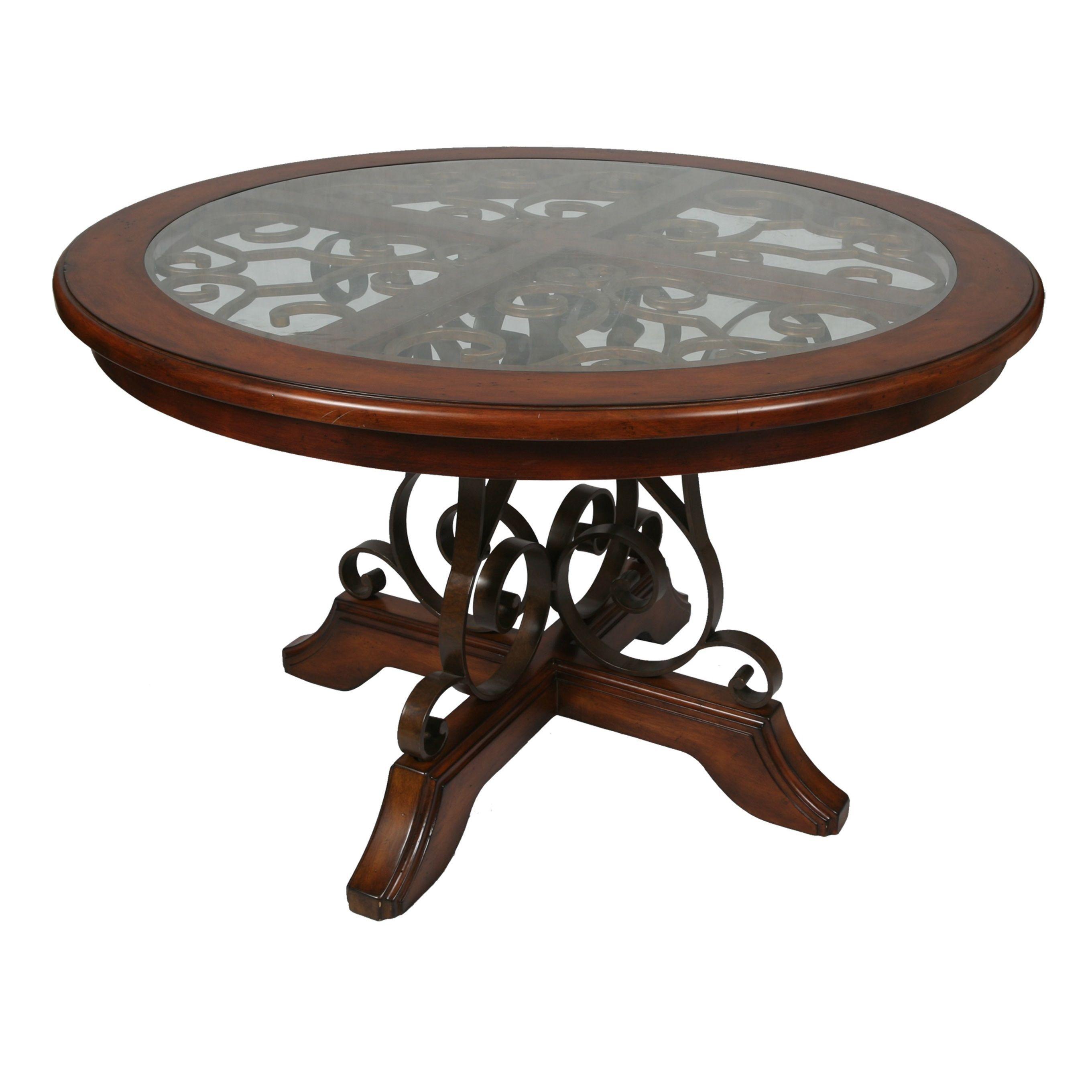 carmel round dining table in murano accent cosmo sepia murano
