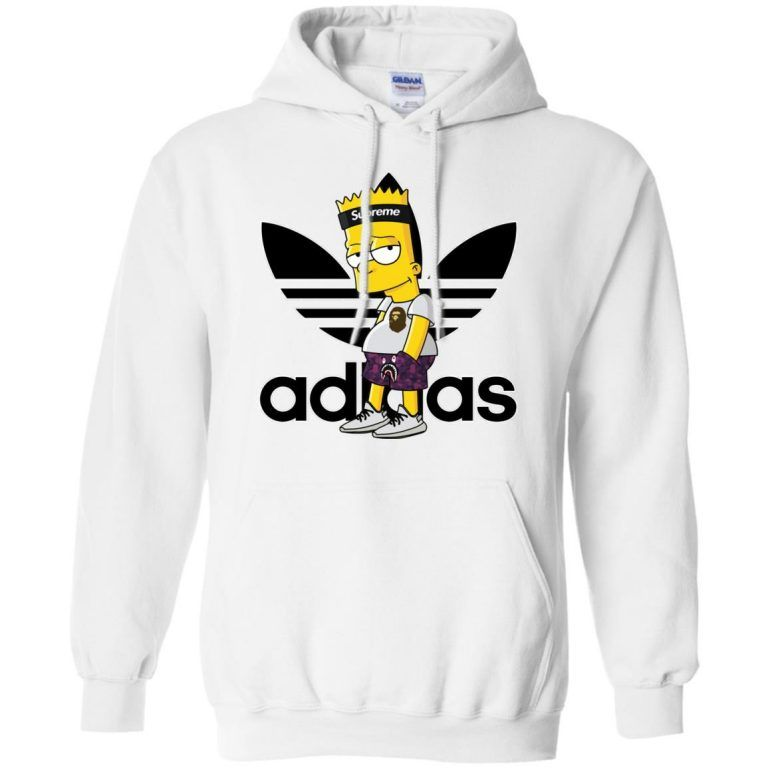 5e4dc91e Supreme Bart Simpson With Adidas Yeezy Hoodie - Shop Freeship US Clothing,  Accessories, Gifts for Unicorn, Holidays, Birthday, Sport and Movies