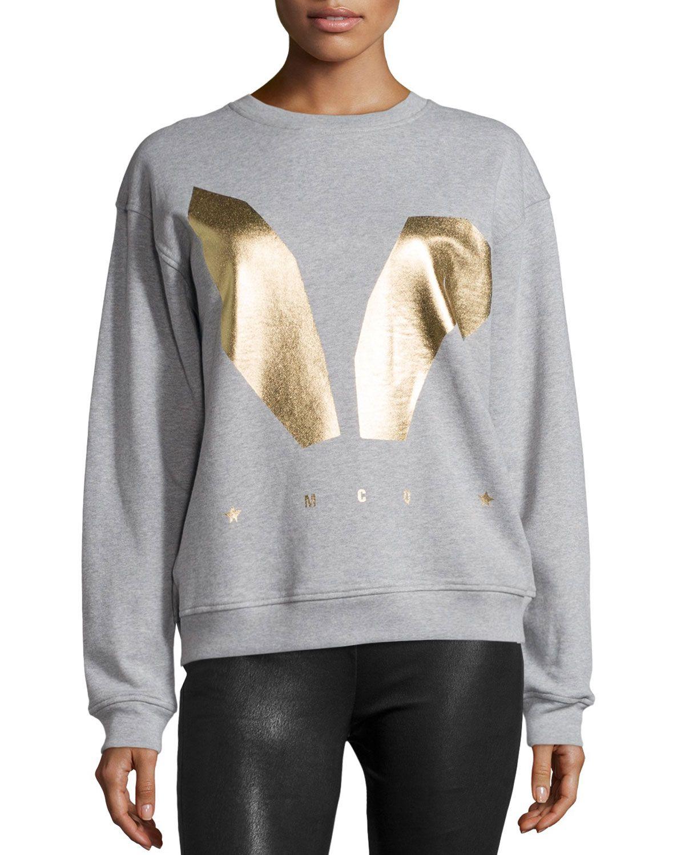 McQ Alexander McQueen Classic Logo Sweatshirt, Gray