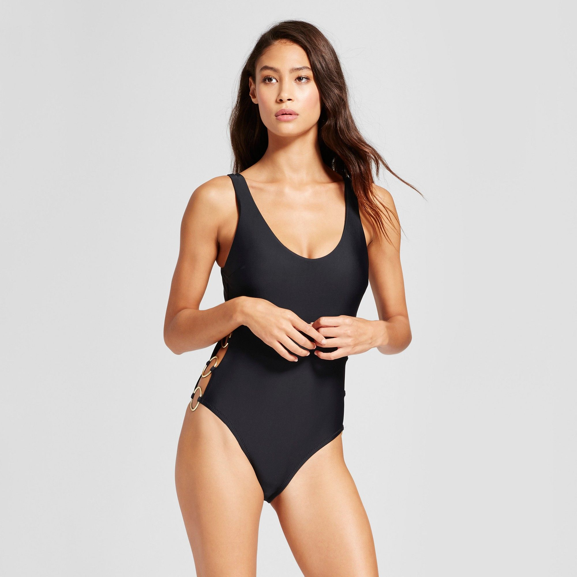 f1592cd4da8a Women's Ring Side Scoop Back One Piece - Black - XS - Mossimo ...