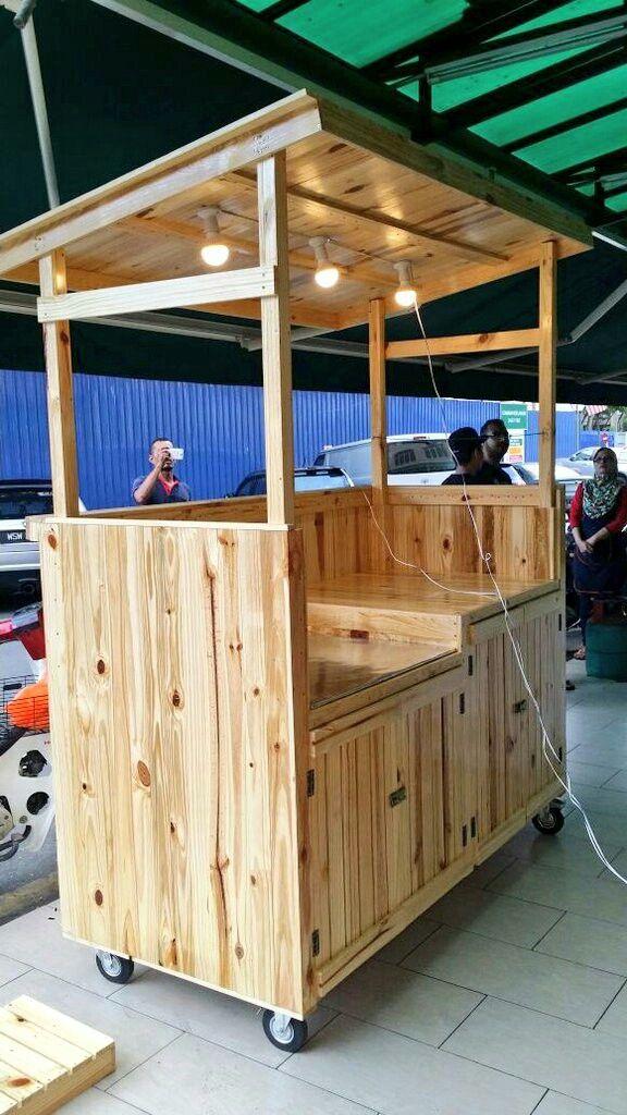 Pallet Stall Cart Em 2019 Barraca De Lanche Barraca
