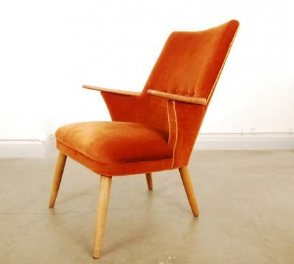 1950s occasional chair with teak arms   CHASE & SORENSEN // DANISH MODERN FURNITURE & HOME DÉCOR