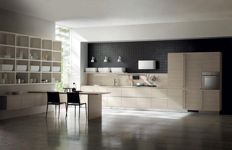 Scavolini italienische küche helles holz weiße behälter kitchen modern ideas