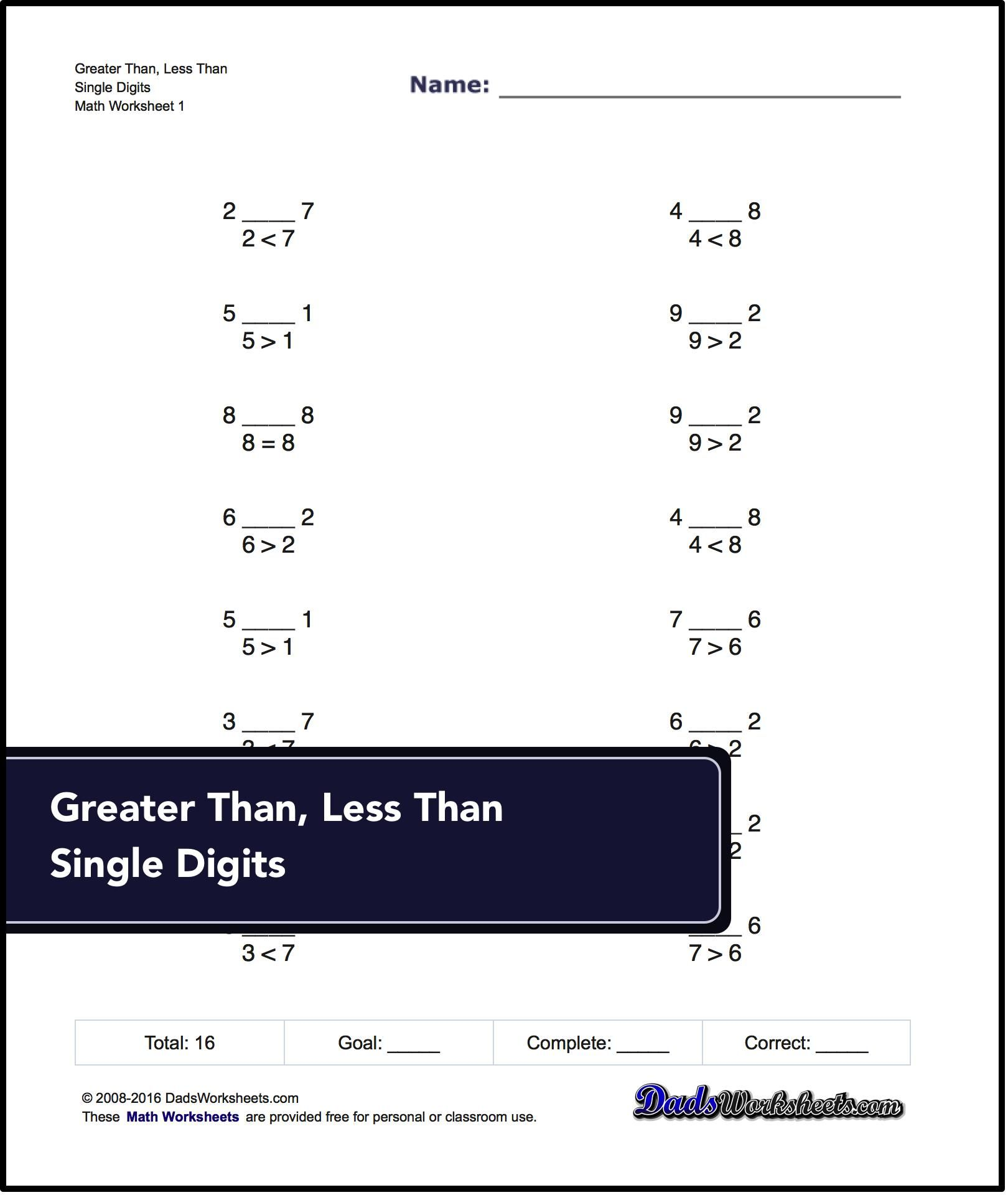 Greater Than And Less Than Simple Greater Than And Less