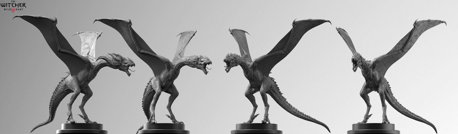 Witcher 3 Wyvern, Marcin Klicki on ArtStation at https://www.artstation.com/artwork/RqJLv