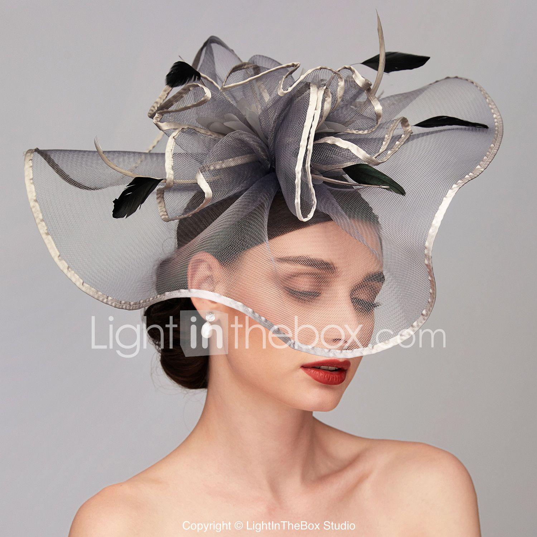 Feather Net Kentucky Derby Hat