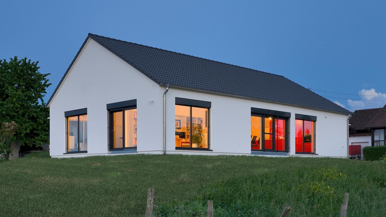 Fertighaus bungalow satteldach  Bungalow mal anders! Satteldach mit viel Platz nach oben und viel ...